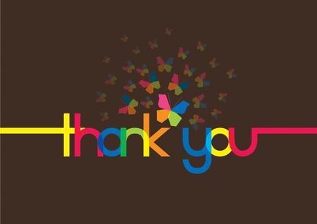 thankful: Ilustraci�n de la tarjeta de agradecimiento Vectores