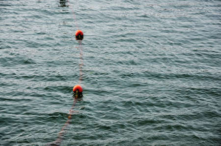 Orange buoy in the sea