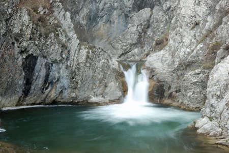 Beautiful blue waterfall Stock Photo