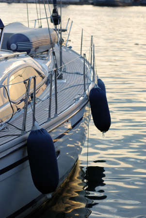 Wood and steel on sailboat Stock Photo - 5109996