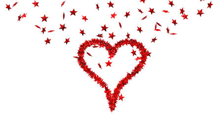 paperboard: background from lots of red stars making one big heart