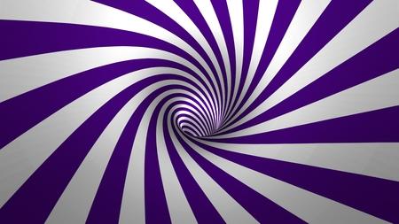 arte optico: Espiral hipnótico? remolino, fondo púrpura y blanco en 3D