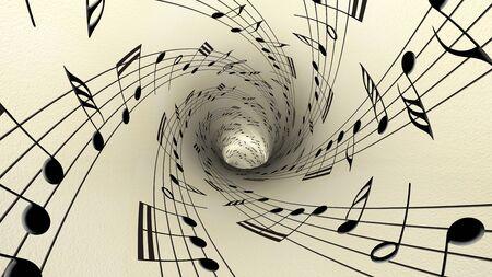 clave de fa: Notas musicales sobre el papel de época antigua