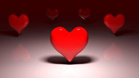 love image: Composite image of red love hearts Stock Photo