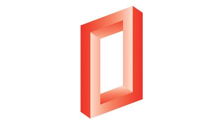 myst: Abstract optical illusion twisted geometric shape