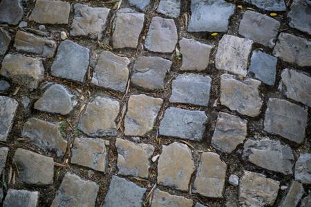 Close-up of cobblestone pattern