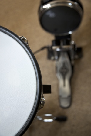 The snare and bass drum of an electronic drum set Stock Photo - 10620963