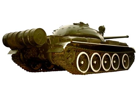 Legendary soviet medium battle tank T-54 isolated on white background photo