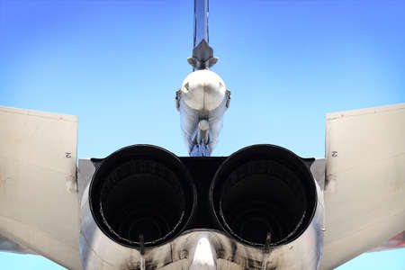 speed gun: View of the Russian fighter combat aircraft
