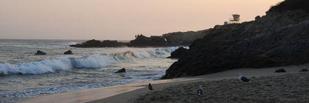 baywatch: Californian Beach Stock Photo