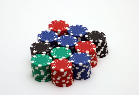 Poker Chip Stack Stock Photo - 581869
