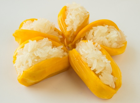 Sticky rice in jackfruit,Thai sweet ,Culture of Asia photo
