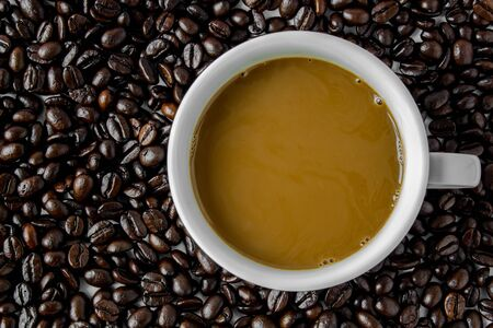 Coffee cup and coffee  beans Stock Photo - 17381906