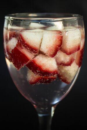 Rose apple in soda water Stock Photo - 17381905