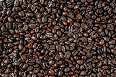 Coffee beans of natural for background photo