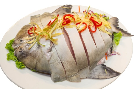 Pomfret fish is slice for prepared Stock Photo - 18222188