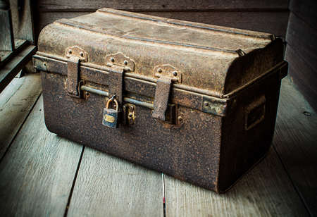 Box is rust for vintage photo
