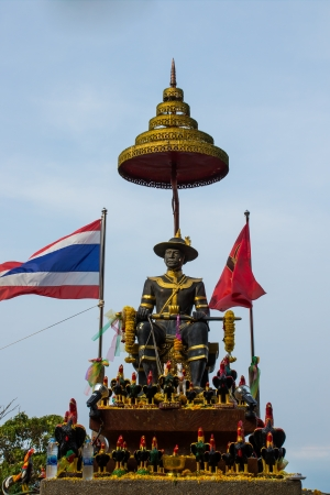 king ramkhamhaeng: King Taksin of monument in Thailand Editorial