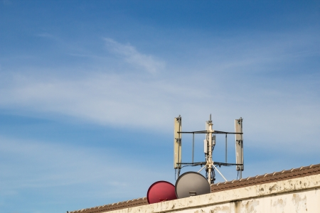 intercommunication: GSM transmitters on a roof of sky