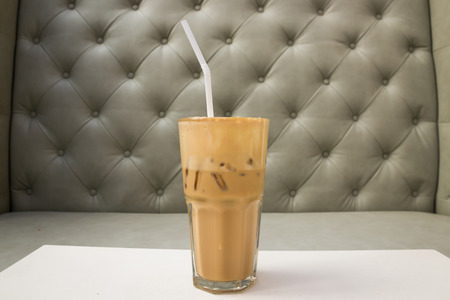 fredo: Cappuccino Caff� ghiacciato in vetro Archivio Fotografico