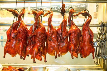 The duck Roasted for sale at Chinese market in Thailand Stock fotó