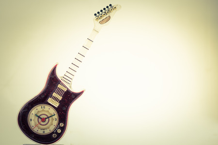 Vintage guitar clock in old Mobile photo