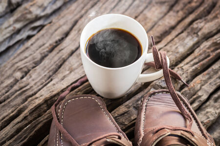 brownish: Coffee footwear for the journey of life.