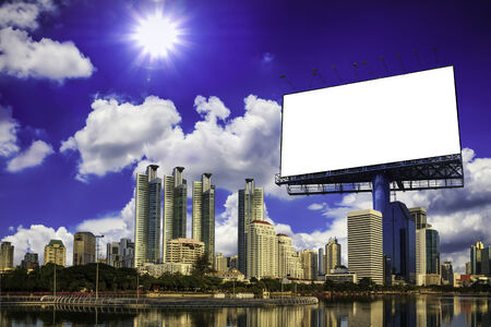 Blank billboard at the city. Useful for your advertisement photo