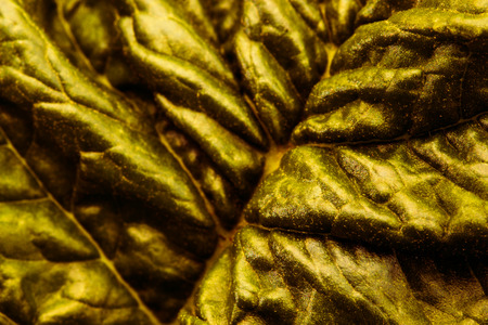 grune: Texture of dark gold leaf Stock Photo