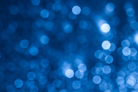 blue star: Abstract bokeh background Stock Photo