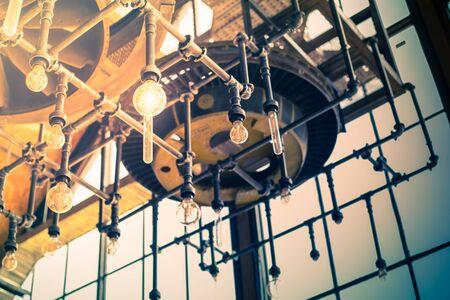 tungsten: Round glowing tungsten lamp
