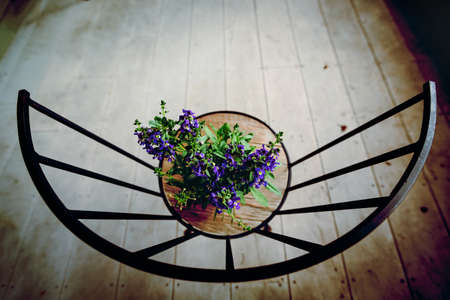 vintage chair: Still life flower with vintage chair