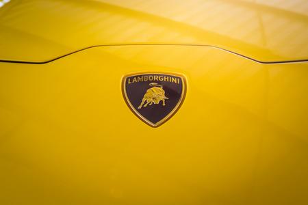 gallardo: Bangkok, Thailand, July 12, 2016: From 1963 Automobili Lamborghini is an Italian brand and manufacturer of luxury sports cars.