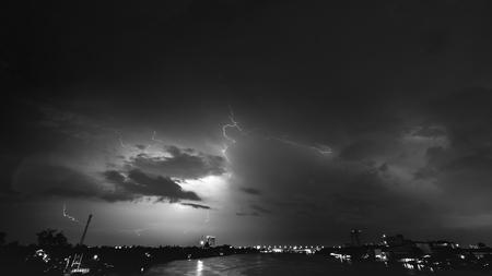 beirut: Lightning on dark night