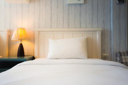 modern bedroom: modern single bedroom Stock Photo