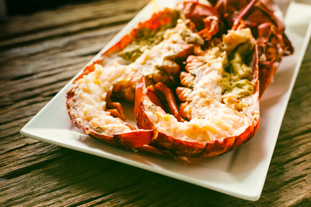 Canadian Lobster steamed with  white wine sauce