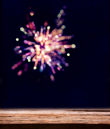 Colorful fireworks of celebration.bokeh blur