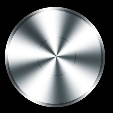 brushed aluminium: Stainless steel circle button texture