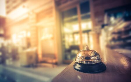 Restaurant bell vintage with bokeh for service