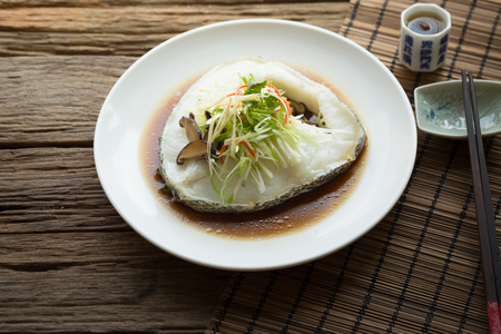 Snow fish steamed with soy sauce