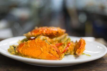 stirred: Stirred Fried Crab with egg, Pepper, Curry Powder.