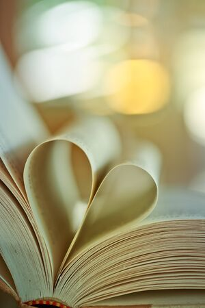 Heart of the book .coffee background