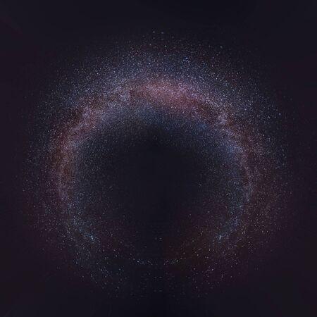 Droga Mleczna 360 stopni w tle