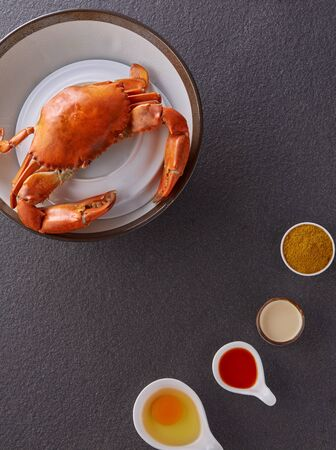Sea Crab steamed with ingredient