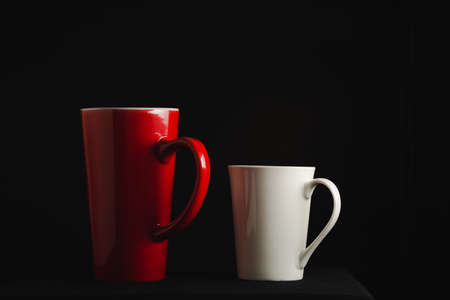Couple cup on dark background