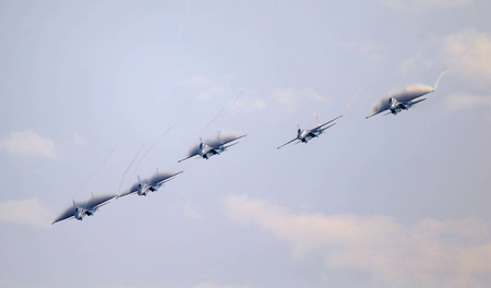 Zhuhai Airshow, the Russian warriors flying the Su-27 aerobatic team