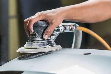 buffing: Auto body repair series : Sanding rear bumper