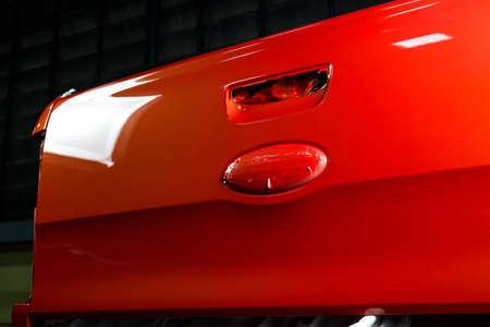 auto repair: Auto body repair series : Back of a repaint truck