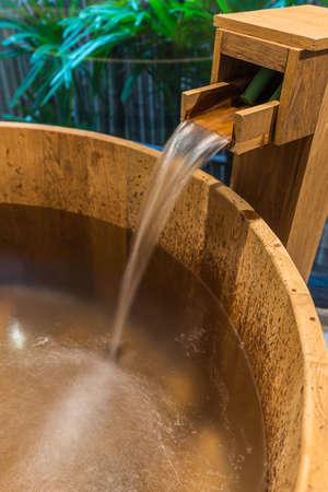 onsen: Onsen series : wooden bathtub