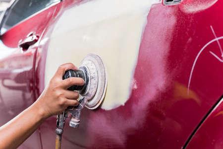 repaint: Auto body repair series : Sanding putty